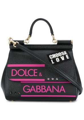 Dolce & Gabbana small Sicily shoulder bag - Black