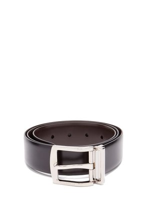 Burberry - Knight Smooth Leather Belt - Mens - Black