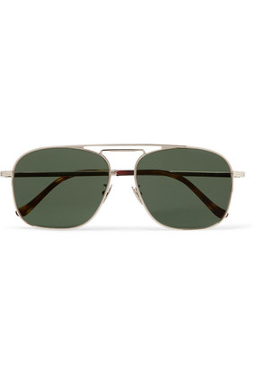 Cutler and Gross - Aviator-style Gold-tone Sunglasses - Green