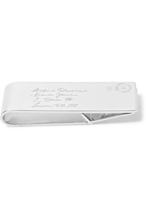 Dunhill - Engraved Sterling Silver Money Clip - Silver