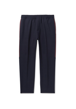 Givenchy - Navy Stripe-trimmed Wool Trousers - Navy