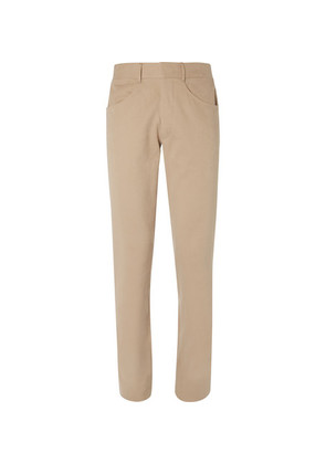 Anderson & Sheppard - Brushed-cotton Twill Trousers - Tan