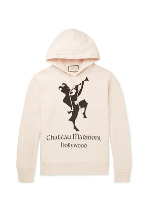 Gucci - Oversized Printed Loopback Cotton-jersey Hoodie - Neutral