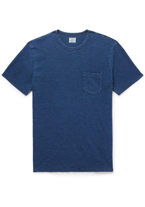 Faherty - Indigo-dyed Slub Cotton-jersey T-shirt - Indigo