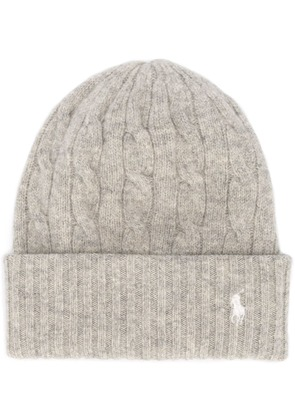 Polo Ralph Lauren cable knit beanie - Grey