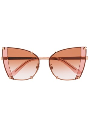 Dolce & Gabbana Eyewear faceted butterfly sunglasses - Pink