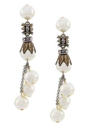 Alberta Ferretti pearl drop earrings - White
