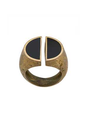 Andrea D'amico divided signet ring - Gold