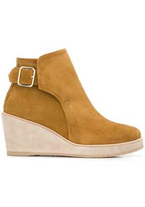 A.P.C. wedged ankle boots - Neutrals