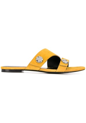 3.1 Phillip Lim Drum embellished slides - Yellow