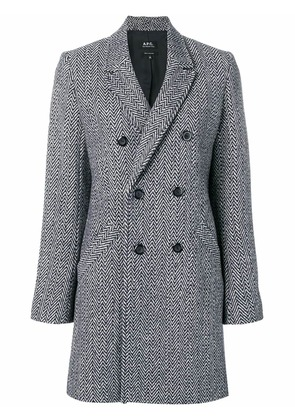 A.P.C. perfectly fitted coat - Blue