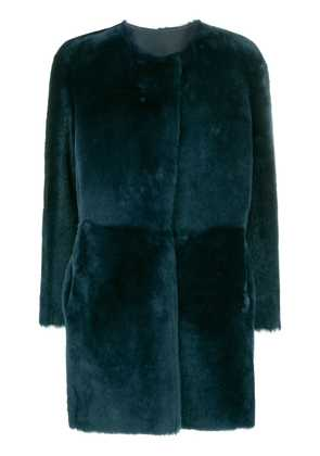 Desa 1972 collarless coat - Blue