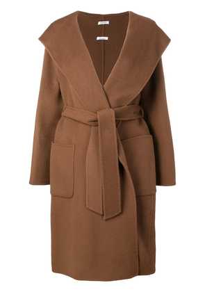 P.A.R.O.S.H. Lover belted robe - Brown