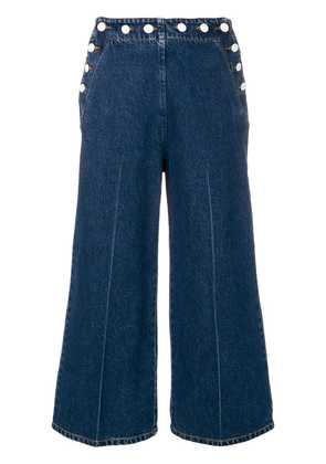 MSGM wide-leg cropped jeans - Blue