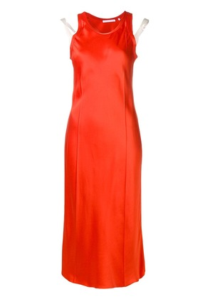 Helmut Lang sleeveless midi dress - Orange