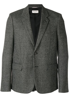 Saint Laurent fine grid weave blazer - Black