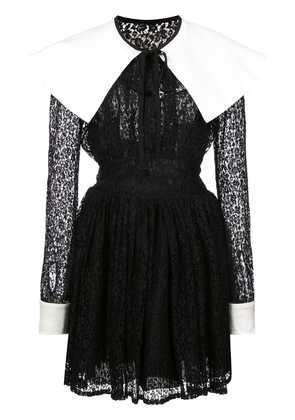 Alessandra Rich short lace dress - Black