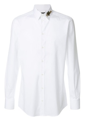 Dolce & Gabbana royal detailed collar shirt - White