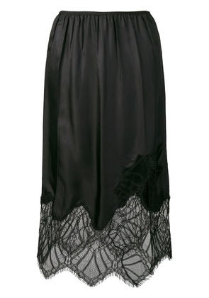 Helmut Lang lace detail skirt - Black
