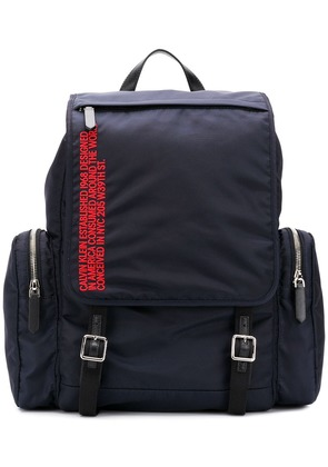Calvin Klein 205W39nyc Address embroidered backpack - Blue