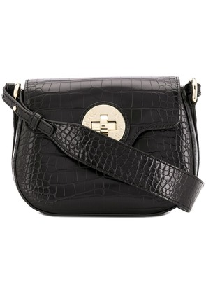 Emporio Armani twist lock cross-body bag - Black