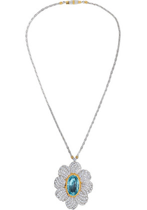 Buccellati - 18-karat White And Yellow Gold, Aquamarine And Diamond Necklace - one size