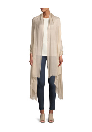 Ultimate Natural Fantasy Wool-Silk Stole