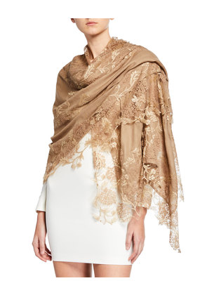 Lace Embroidery Stole