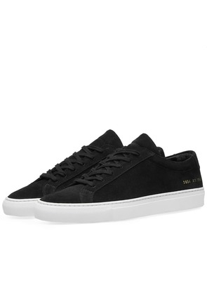 Woman by Common Projects Original Achilles Low Suede Black