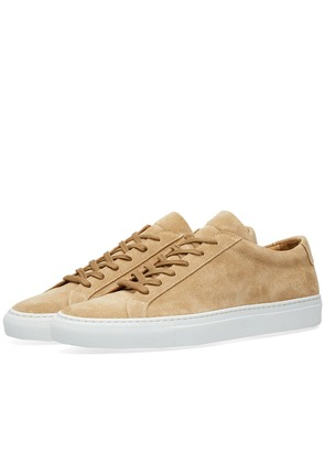 Woman by Common Projects Original Achilles Low Suede Warm Grey