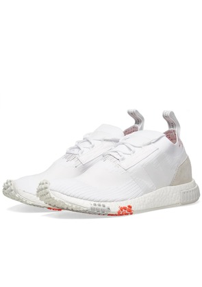 Women's Adidas NMD Racer PK hite & Trace Scarlet