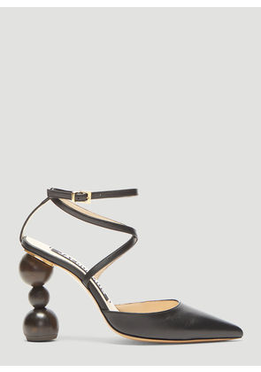 Jacquemus Chaussures Geometric Heel Sandals in Black size EU - 38