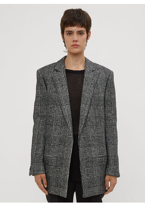 Saint Laurent Oversized Checked Jacket in Grey size FR - 36