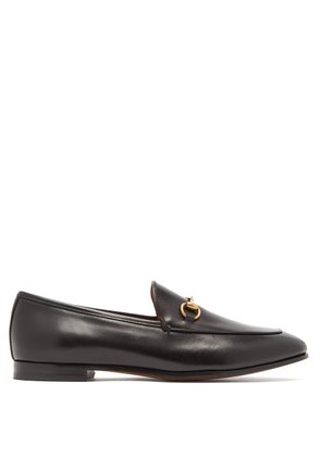 Gucci - Jordaan Leather Loafers - Womens - Black