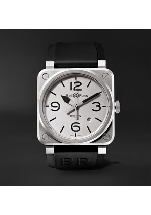 Bell & Ross - Br 03-92 Horoblack Automatic 42mm Steel And Rubber Watch - White