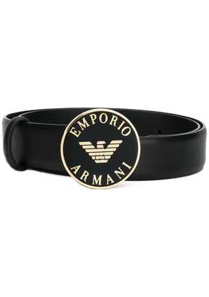 Emporio Armani logo buckle belt - Black