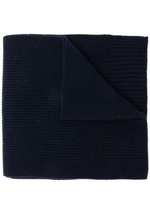 Closed long neck scarf - Blue