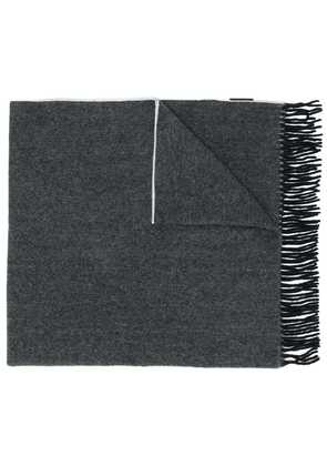 Canada Goose fringed knitted scarf - Black