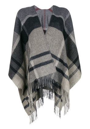 Barbour checked scarf - Grey
