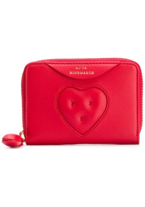 Anya Hindmarch small Chubby Heart zip-around wallet - Red