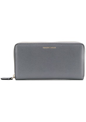 Emporio Armani zip-around logo wallet - Grey