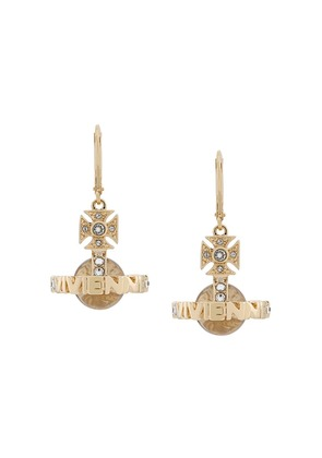 Vivienne Westwood logo ball earrings - Gold