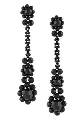 Simone Rocha beaded drop earrings - Black