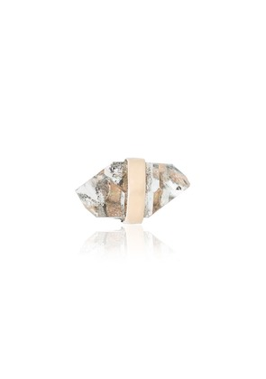 Melissa Joy Manning quartz stud earring - Metallic