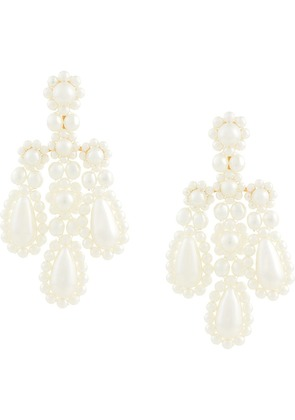 Simone Rocha chandelier earrings - White