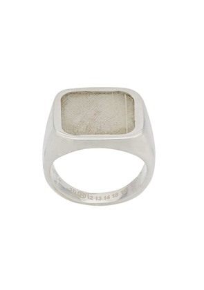 Maison Margiela feather signet ring - Silver