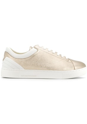 Emporio Armani lace-up sneakers - Metallic