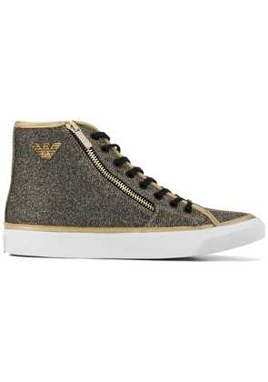 Emporio Armani logo high-top sneakers - Gold
