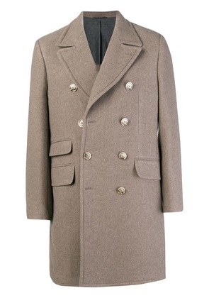 Hackett double breasted coat - Neutrals