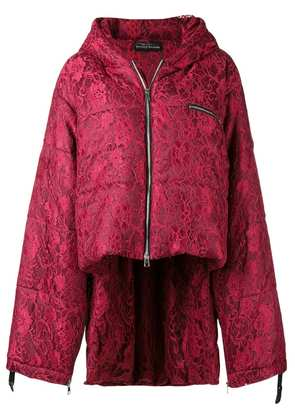 Barbara Bologna asymmetric puffer jacket - Red